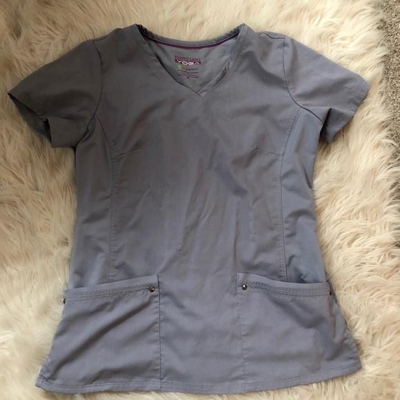Gray scrubs